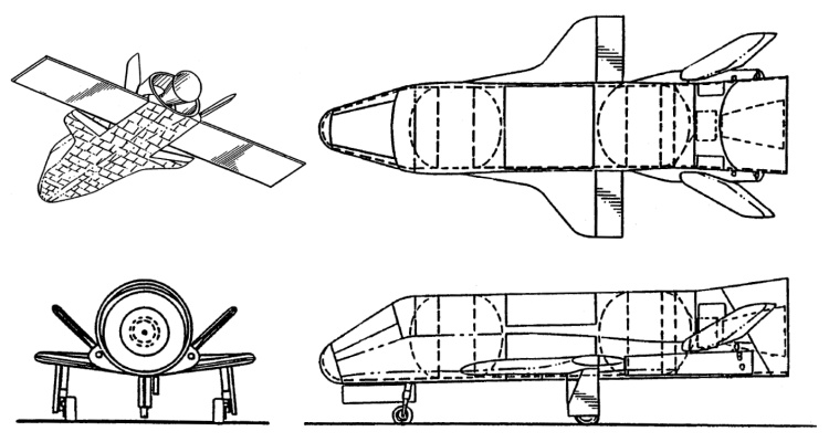 Rockwell Boeing ReFly reusable flyback satellite spaceplane USAF military shuttle reusable raketoplán RLV