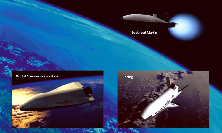 SMV space maneuver vehicle proposals Lockheed Martin Rockwell Boeing OSC Orbital Sciences Corporation USAF