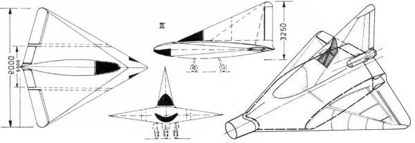 Lippisch P-13A fighter