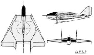 Lippisch P.13B triebflugel