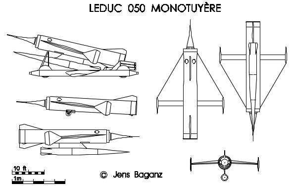 Leduc 050 unmanned robot ramjet powered bomber reconnaissance plane
