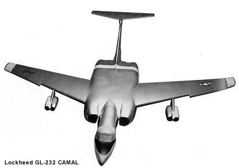 Lockheed GL-232 CAMAL Continuously Airborne Missile Launcher Low Level nuclear powered bomber ANP