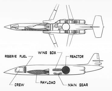 Lockheed nuclear powered bomber concept study CL-225 GL-145