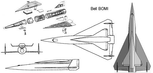 Bell BOMI Bomber Missile project space fighter hypersonic Brass concept experimental rocket