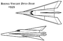 Boeing Chance Vought X-20 Dynasoar Dynamic Soaring USAF project proposal competition space vehicle plane shuttle military