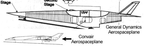 Aerospaceplane USAF General Dynamics Convair space airbreathing plane vehicle shuttle program project