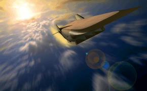 NASA USAF Allied Industries X-43C hypersonic experimental plane vehicle