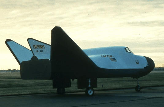 NASA HL-20 space plane vehicle shuttle