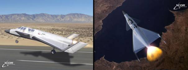 XCOR Aerospace Xerus shuttle space plane aircraft private commercial tourism design proposal