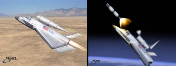 Xerus reusable space plane XCOR Aerospace