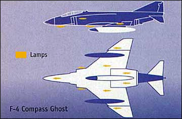 F-4 Compass Ghost visual stealth program USAF stealthy lights