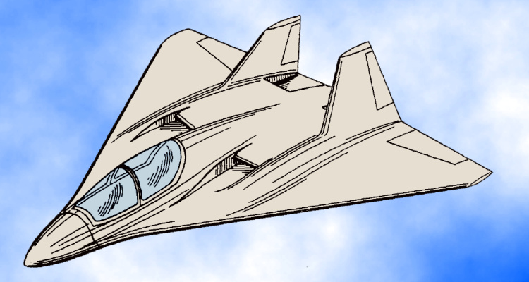 Teledyne Ryan McDonnell Douglas XST experimental stealth survivable testbed aircraft proposal study patent project DARPA low observable