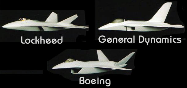 Lockheed Boeing General Dynamics ATF advanced technology fighter USAF program stealth