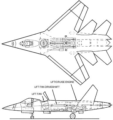 Lockheed ATF advanced technology fighter proposal project STOVL
