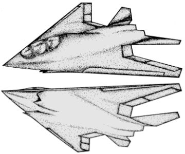 Northrop A/F-X stealth navy fighter study aircraft plane attack