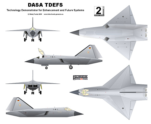 Technology Demonstrator for Enhancement and Future Systems DASA EADS TDEFS german stealth fighter project low observable