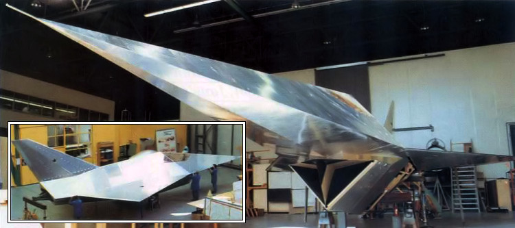 MBB Lampyridae RCS measurements stealth fighter model full scale Firefly MRMF low observable german project