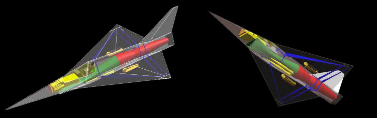 MBB Lampyridae german stealth aircraft Firefly MRMF medium range missile fighter low observable