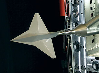 MBB Lampyridae Firefly stealth fighter wind tunnel model transsonic german MRMF