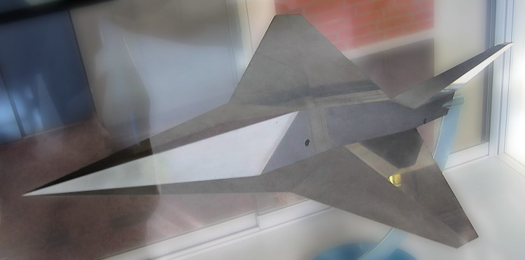 MBB Lampyridae Firefly transsonic stealth fighter model german project MRMF low observable
