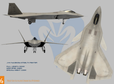 J-XX chinese stealth fighter fake fiction artists impression