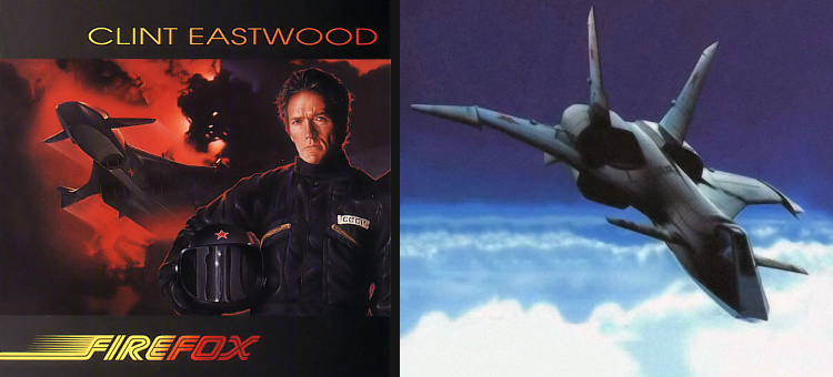 MiG-37 Firefox movie Clint Eastwood stealth soviet fithter plane fiction film fantasy fake Craig Thomas