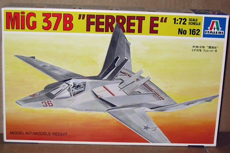 MiG-37B Ferret E fake plastic kit soviet stealth fighter fiction