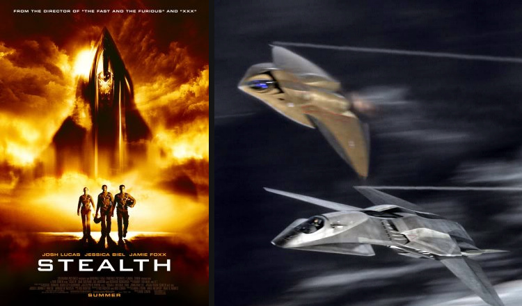 Columbia pictures Stealth F/A-37 Talon E.D.I. Extreme Deep Invader fictional fighter UCAV