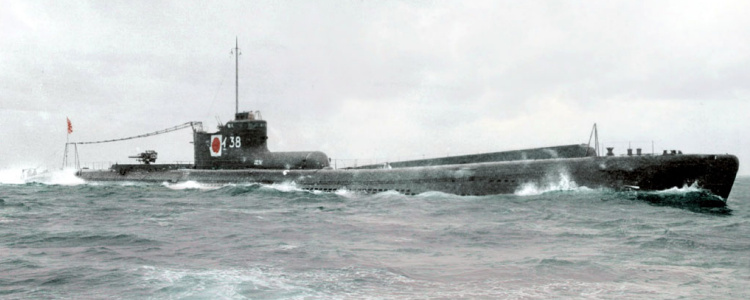 japanese navy I-38 submarine aircraft carrier I-15 class Yokosuka E14Y Glen