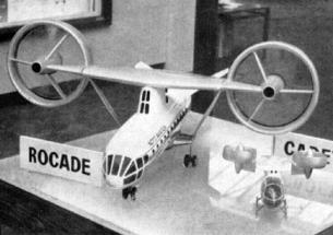 Nord Rocade VSTOL medium transport aircraft plane project