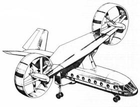 Nord Rotocade medium VTOL transport proposal model