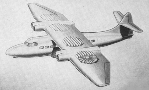 Breguet ducted fan transport aircraft plane proposal model project study VTOL VSTOL