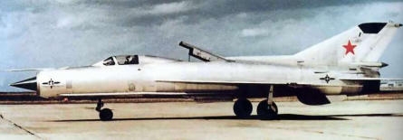 MiG-21PD STOL V/STOL soviet experimental fighter type 92