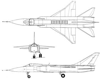 Sukhoi T-6-1 T-6-I 3 view tactical experimental STOL bomber