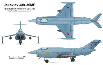 Jak-36MP Yak-36MP Yakovlev serial production version variant of Yak-36