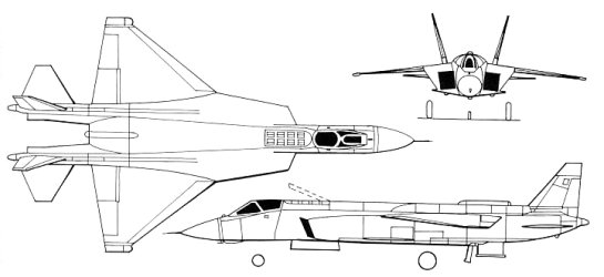 Yakovlev Yak-43 Jakovlev Jak-43 stealthy stealth advanced V/STOL fighter plane proposal project
