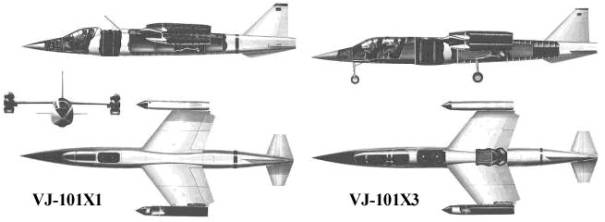 VJ-101C X3 experimental fighter trainer 2 two seat VTOL