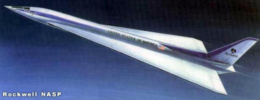 "Rockwell X-30 NASP proposal NASA USAF military space plane ""orient express"""