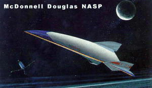 McDonnell Douglas NASP proposal USAF NASA military national aerospace plane vehicle shuttle space bomber reconnaissance