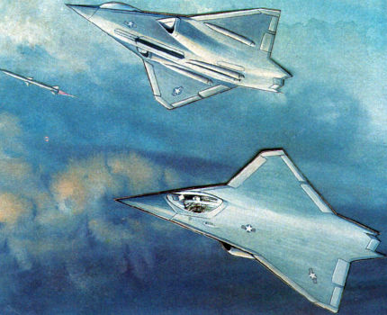 Rockwell tailess MRF multirole fighter study project proposal aircraft stealth low observable