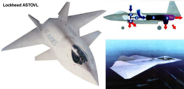 Lockheed ASTOVL advanced short take off vertical landing SSF supersonic STOVL fighter proposal project DARPA Skunk Works