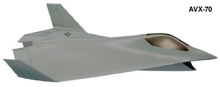 Boeing AVX-70 CALF fighter proposal plane study stealth delta flying wing low observable