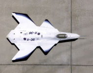 X-36 tailess 28 % scalable demonstrator fighter model