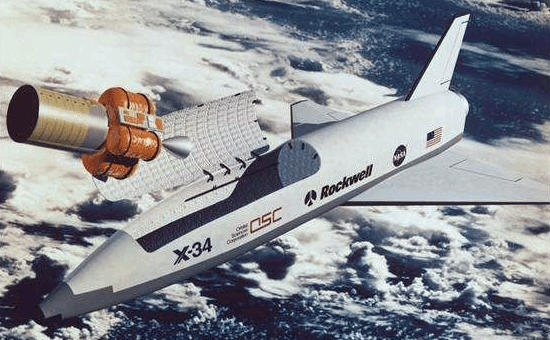 OSC Rockwell NASA X-34 commercial shuttle X-plane experimental