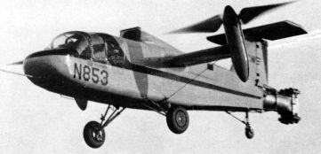 Curtiss Wright X-100 experimental tilt propeller aircraft test