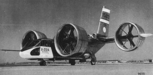Bell X-22A model D2171 light transport experimental aircraft plane 1520