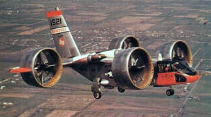 Bell X-22A VTOL STOL second prototype 1521 vertical take off and landing